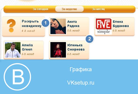 Список ваших гостей вконтакте