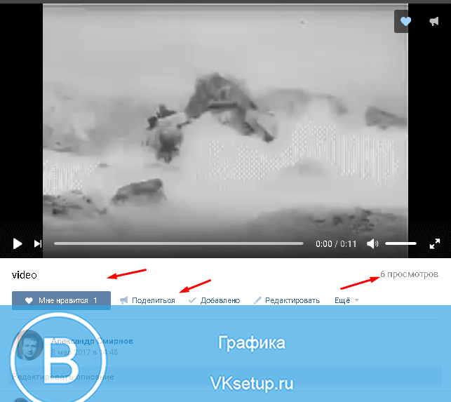 Счетчик просмотров видео
